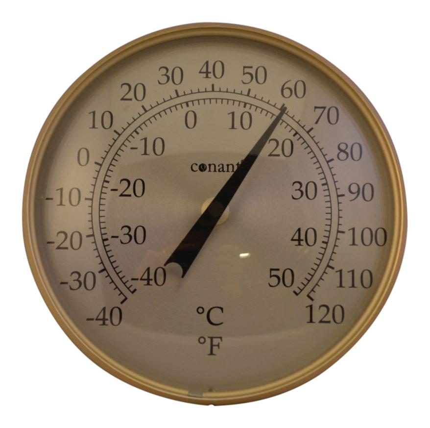Image of   Rundt termometer i aluminium