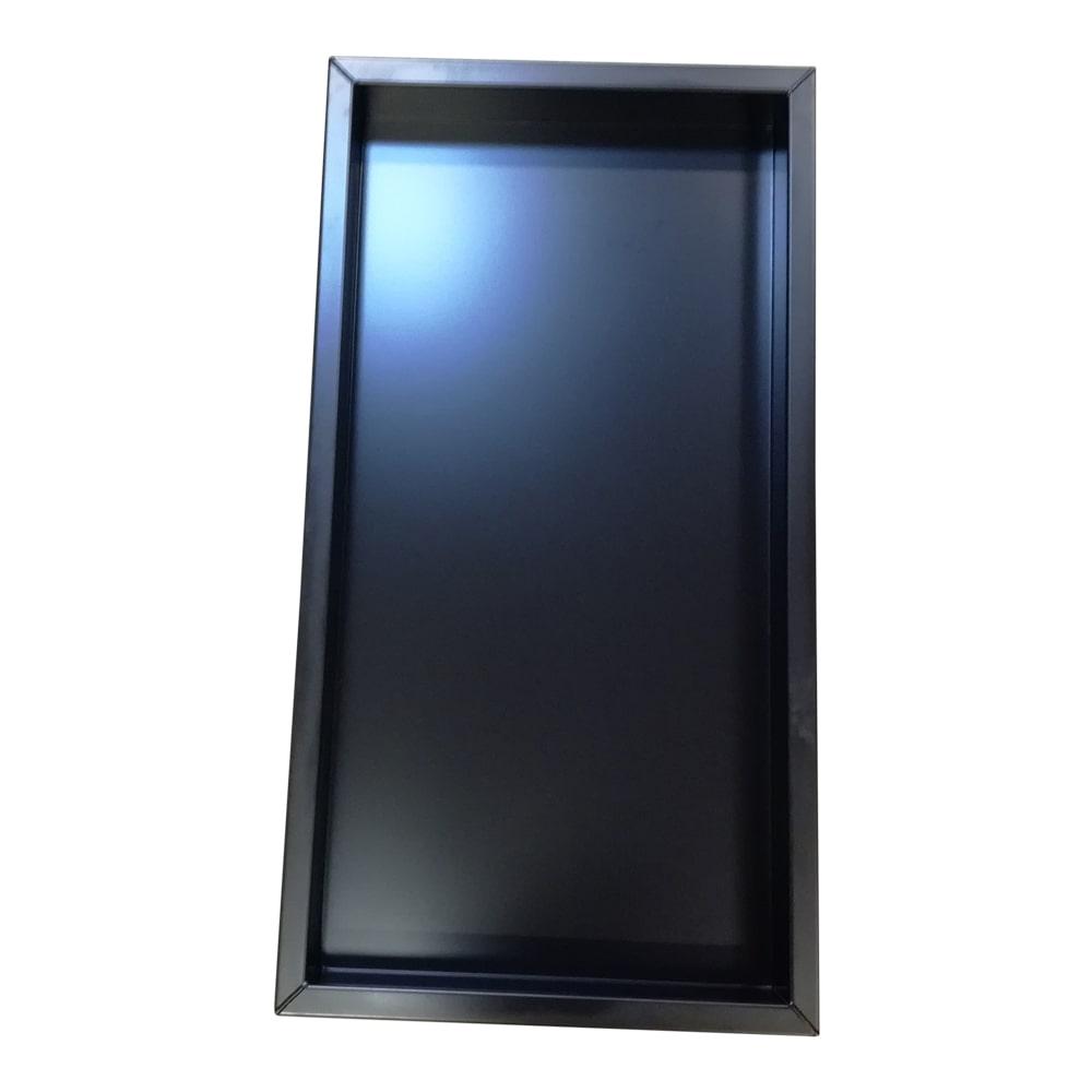Billede af Sortlakeret firkantet spejlbassin med kant 128 x 68 x 10