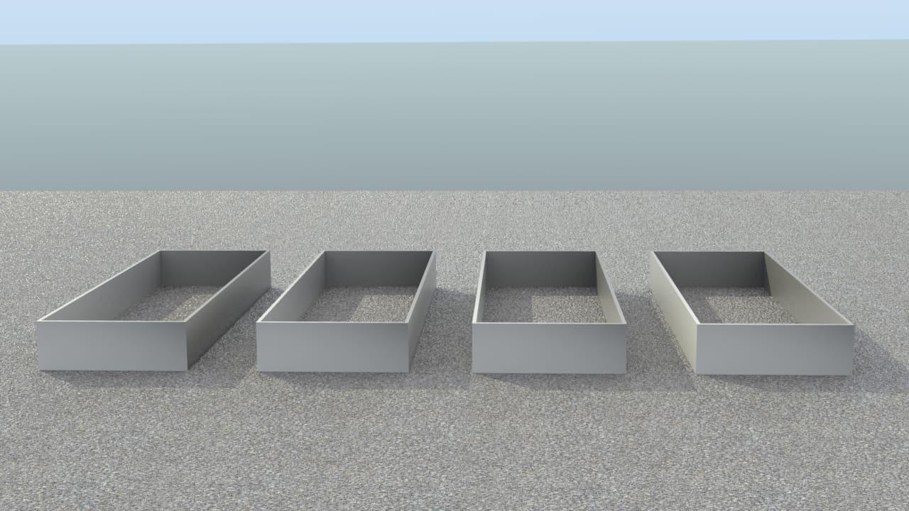 Image of   Køkkenhaven - Højbede i galvaniseret stål