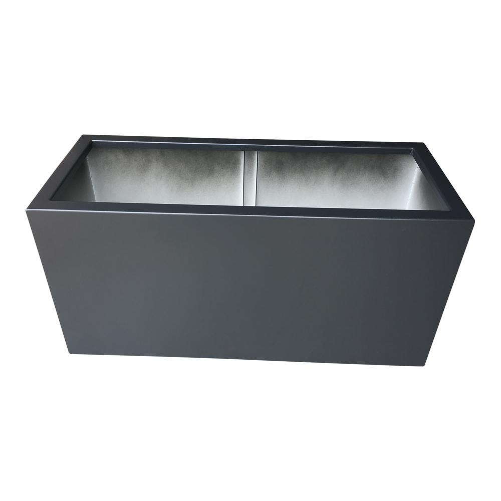 Image of   Plantekasse i sort aluminium