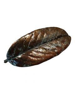 Laurbærblad i kobber patineret