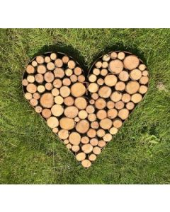 Hjerte i kraftig jern - Højde 15 cm.