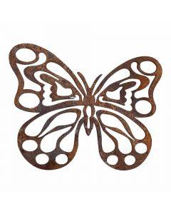 Luksus sommerfugl rustfarvet