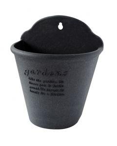 Plast urtepotte sort 2,5l genanvendt materiale
