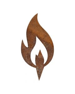 Rustfarvet flamme