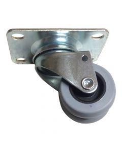 Dobbelthjul uden bremse