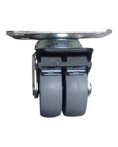 Kraftigt dobbelt hjul m. bremse