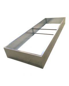 Langt højbed i varmgalvaniseret stål