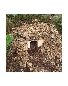Diskret pindsvinehus du selv dækker til med blade