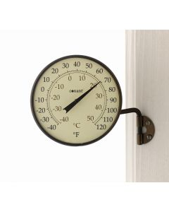Bronze rundt termometer